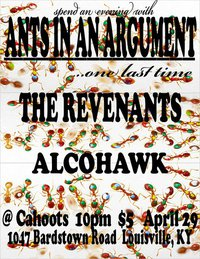 Ants in an Argument reunion show flyer