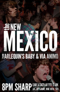 The New Mexico, Harlequins Baby, and Via Animo at Ear X-Tacy