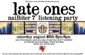 Late Ones Listening Party flyer