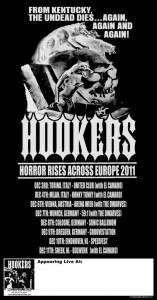 Hookers 2011 Euro Tour Poster