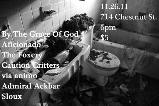 BTGOG, Foxery, Admiral Ackbar, more at the Chestnut House, Nov 26 2011